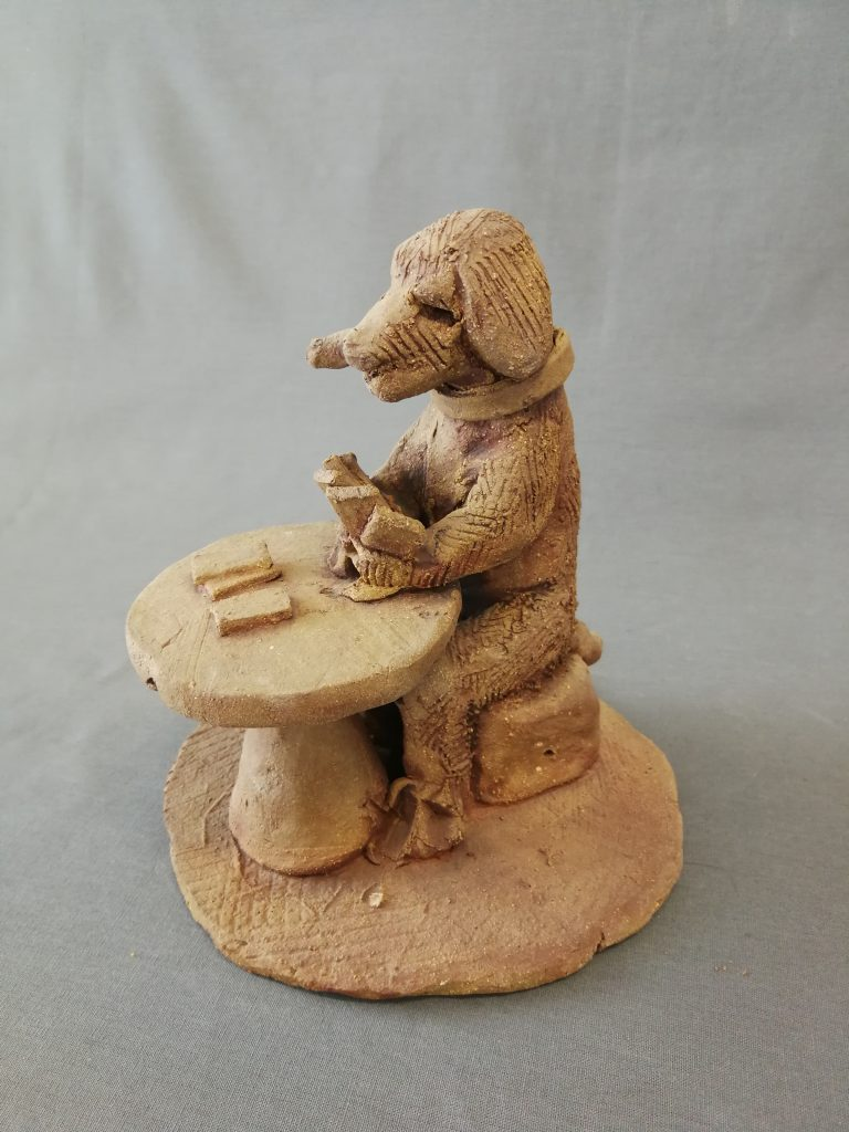 "DOG GAMBLING - 7""  $200-"