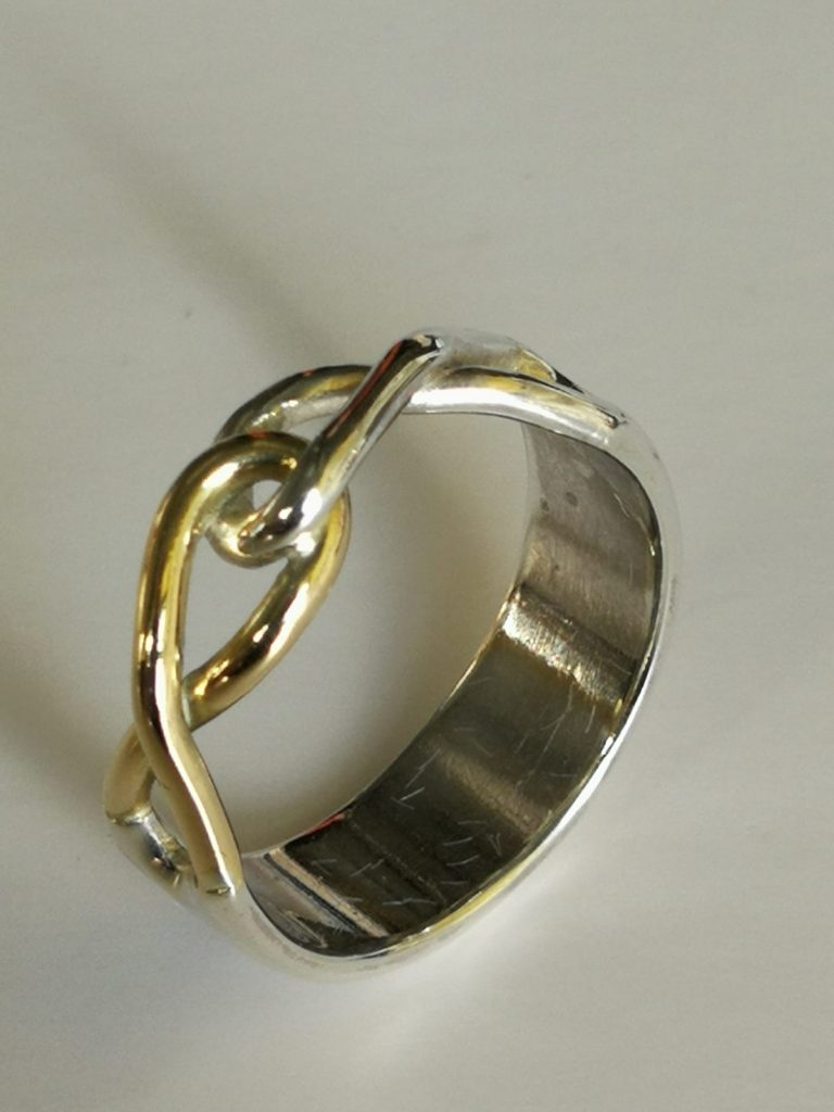 Infinity ring side view